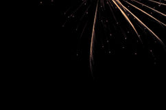 Golden firework background with ample copy space for text. Firework background with ample copy space for text Royalty Free Stock Photo