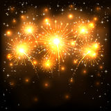 Golden firework Royalty Free Stock Photography