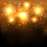 Golden firework Royalty Free Stock Photo