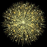 Golden fireworks Stock Photos