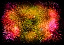 Golden fireworks background Royalty Free Stock Images