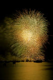 Golden Fireworks Vancouver Stock Photography