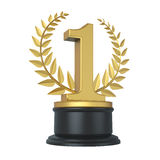 Golden First Place Trophy Royalty Free Stock Photos