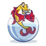 Golden_Fish_In_Aquarium Royalty Free Stock Image