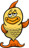 Golden fish cartoon illustration Royalty Free Stock Photography