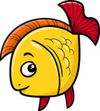 Golden fish cartoon illustration Stock Photography