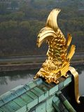 Golden fish on the roof of Osaka castle Royalty Free Stock Photos