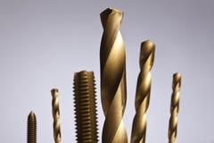 Golden fishing gears. Photos of golden fishing gears Stock Photo