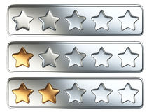 Golden five star rating system. Stock Photo