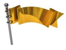 Golden flag Stock Photo