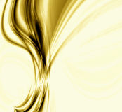 Golden Flame. Abstract bright design of a golden amber colored flame with room for text in the background Stock Photos