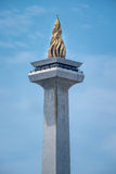 Golden flame. Flame at the top of Indonesian national momument Stock Images