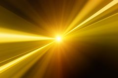Golden flash. Abstract background - bright golden flash Stock Photography