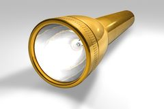 Golden flashlight Royalty Free Stock Photography