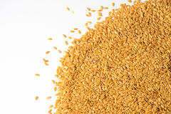Golden flax seed or linseed Royalty Free Stock Photos
