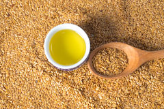 Golden flax seed or linseed. Background stock images