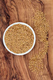 Golden Flax Seed Royalty Free Stock Images