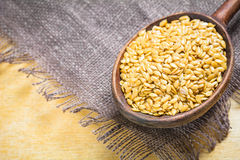 Golden flax seeds or linseeds Royalty Free Stock Photo