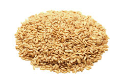 Golden flaxseeds Royalty Free Stock Photo