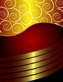 Golden flayer. With swirls and gradients, vector illustration vector illustration