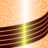 Golden flayer with swirls. Vector illustration vector illustration