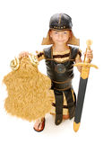 The Golden Fleece. Boy in carnival costume knight Royalty Free Stock Photos
