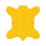 Golden fleece legendary isolated. Yellow fur ram magic artefact.  Royalty Free Stock Photography