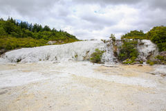 Golden Fleece, Thermal area Orakei Korako in New Zealand Stock Photos
