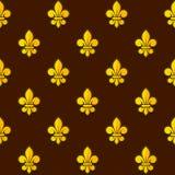 Golden Fleur de lis Seamless Pattern. Vector Royalty Free Stock Photos