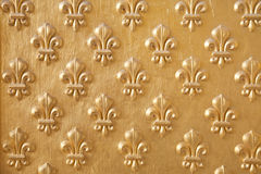 Golden fleur de lys pattern. Golden fleur de lys seamless pattern royalty free stock images