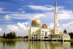 Golden Floating Mosque Stock Images