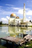 Golden Floating Mosque Royalty Free Stock Images