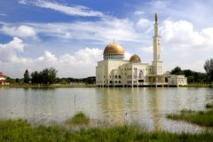Golden Floating Mosque Royalty Free Stock Image