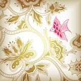 Golden floral Stock Images