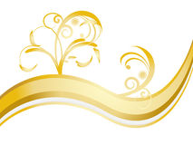 Golden floral Art Stock Images