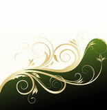 Golden floral background Stock Photos