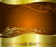 Golden floral background. An ideal copy space for poster, print ads or product label Stock Image