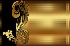 Golden floral background. Royalty Free Stock Photos