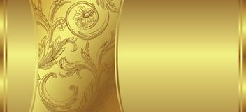 Golden floral background Royalty Free Stock Images
