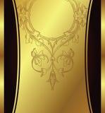 Golden floral background. Illustration of golden floral background Royalty Free Stock Photography