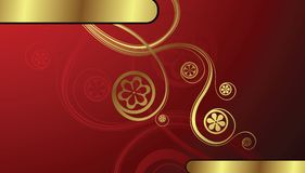 Golden Floral Background Stock Photography