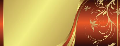 Golden floral background Royalty Free Stock Photos