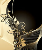Golden floral background Stock Images