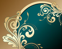 Golden floral background Stock Images