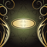 Golden floral background Royalty Free Stock Image