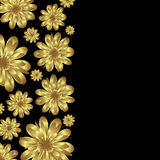 Golden floral banner Stock Images