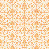 Golden floral damask seamless pattern background Royalty Free Stock Image