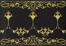 Golden floral decoration Royalty Free Stock Image