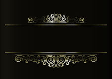 Golden floral decoration Royalty Free Stock Photography