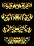 Golden floral embellishments Stock Photos
